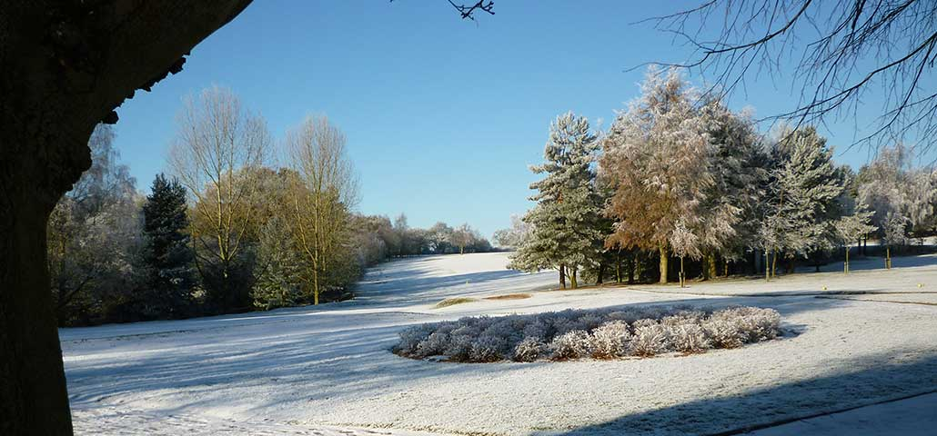 Frosty 9th hole
